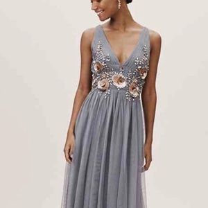 NWT BHLDN Isabel Floor-Length Gown Bridal 4 Blue
